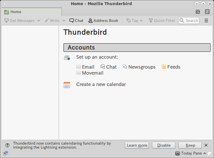 MATE - FreeBSD 12.0 - Thunderbird - 起動直後