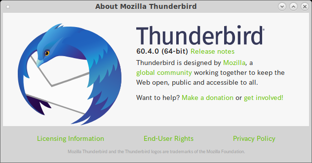 MATE - FreeBSD 12.0 - Thunderbird - バージョン情報