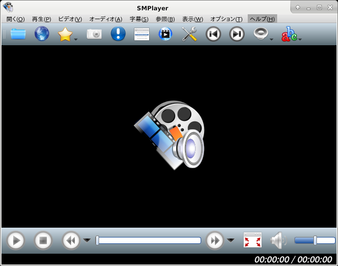 XFCE - FreeBSD 12.0 - SMPlayer - 起動直後