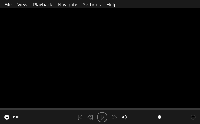 「Enlightenment FreeBSD 11.4」-「Baka-MPlayer」「起動直後」