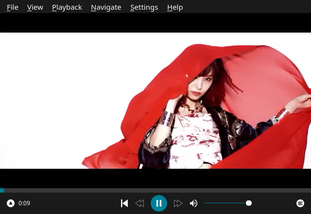 「Enlightenment FreeBSD 11.4」-「Baka-MPlayer」「ビデオコンテンツ再生中」