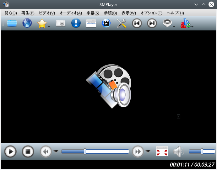 「KDE FreeBSD 11.3」-「SMPlayer」起動直後