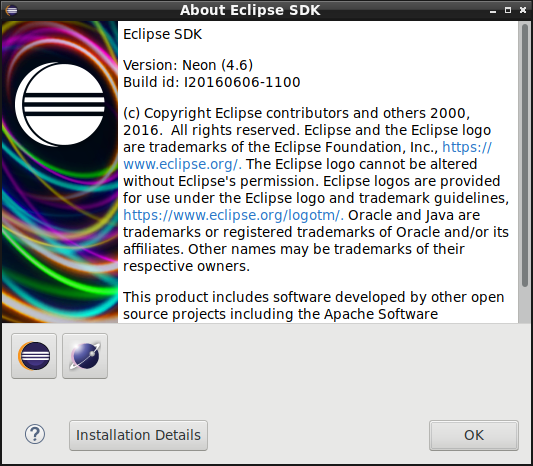 「LXDE FreeBSD 12.0」-「Eclipse」「バージョン情報」