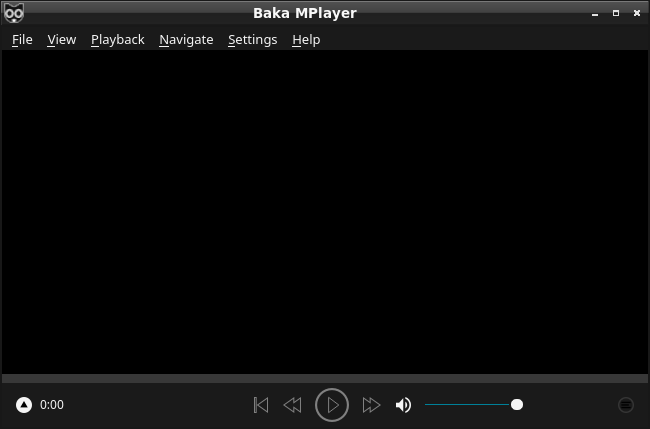 「LXQt FreeBSD 11.4」-「Baka-MPlayer」「起動直後」