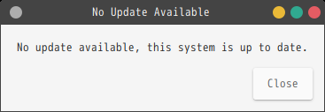 「GhostBSD 18.12 MATE」-「Update Station」-「No Update Available」