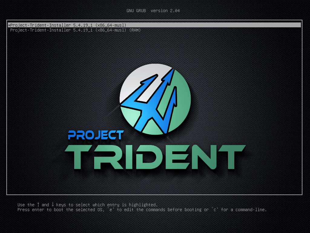「Trident 20.02」-「boot」