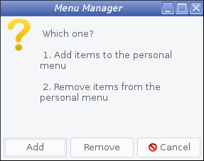 antiX - 17.3.1 -「Menu Manager」-「Personal」