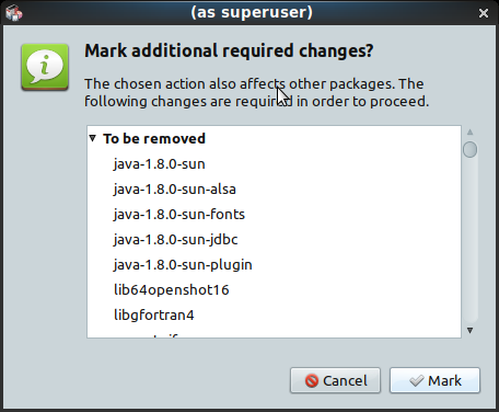 PCLinuxOS - 201903 - MATE -「Mark additional required changes?」