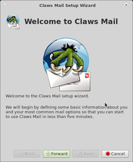 「Mageia 06」-「Claws Mail」「設定ウィザード」