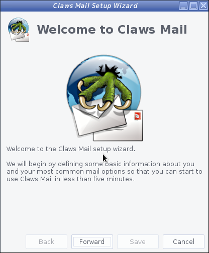 Claws Mail - Wizard 開始